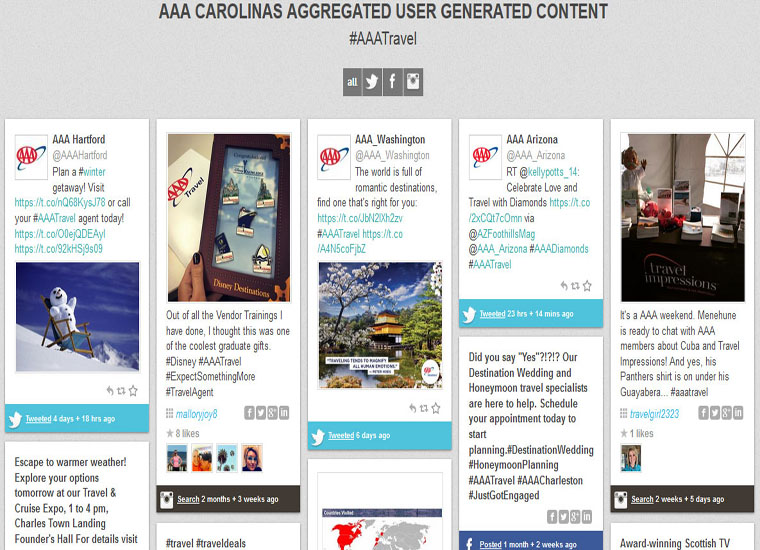 User Content Aggregation - Hashtags